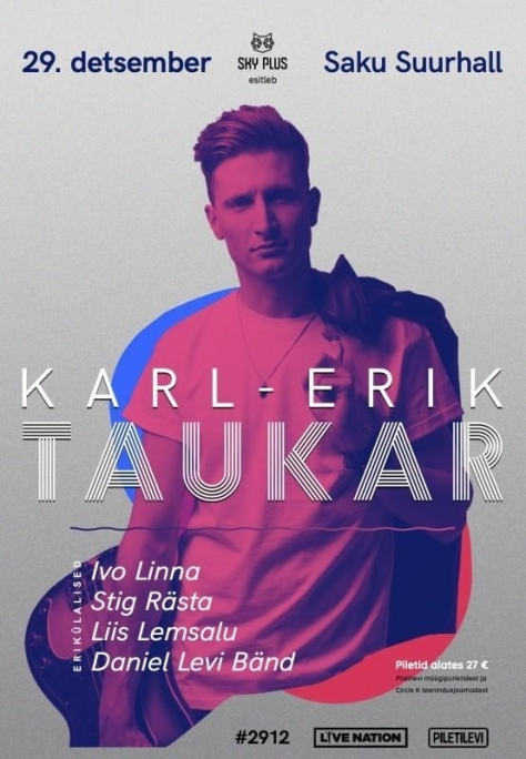 Karl-Erik Taukari 29. detsembri kontserdi plakat